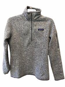 Patagonia Better Sweater 1/4 Zip Fleece Gray Pullover Women's M