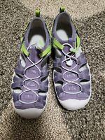 Keen Women's Water Sport Moxie Waterproof Sandals Purple Neon Green Size 6