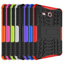 For Samsung Galaxy Tab Rubber Rugged Stand Shockproof Hybrid Hard Case Cover