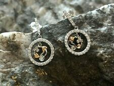 Welsh Clogau 18ct White & Rose Gold Tree of Life Diamond Earrings £1250 OFF!