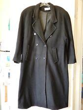 LEON FILIPS BRAND WOMEN'S LONG BLACK COAT SZ 18 SHOULDER PADS GREAT CONDITION
