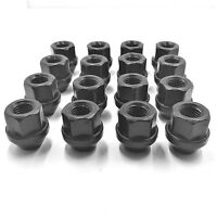 16 X ALLOY WHEEL NUTS BLACK FORD FOCUS ALLOYS M12 X 1.5 19MM BOLTS LUGS STUD[1]