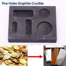Crucible Graphite Square Melting Casting Refining Ingot Mould Bar Silver Copper