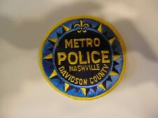 LAW ENFORCEMENT PATCH POLICE METRO NASHVILLE DAVIDSON COUNTY 4 INCHES ROUND