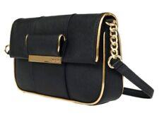 Calvin Klein Black Saffiano Leather Gifting Demi Small Shoulder Bag NWT