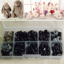 100Pcs Black Safety Eyes For Teddy Bear Doll Animal Puppet Toy Craft 6-12mm