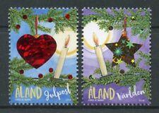 Aland 2018 MNH Christmas Decorations Trees Candles 2v Set Seasonal Stamps