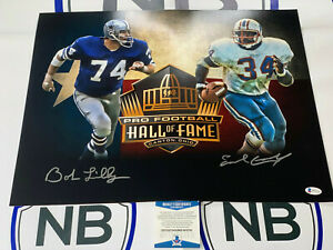 Bob Lilly & Earl Campbell Signed LIMITED EDITION HOF 16x20 Photo Beckett COA