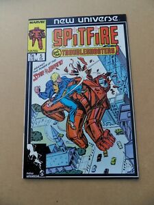 Spitfire & The Troubleshooters 5 .  Marvel (New Universe) .1987. FN / VF