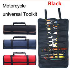 1Pcs Motorcycle Tools Bag Multifunction 600D Oxford Pocket Toolkit Rolled Bag