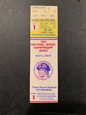 1974 NLCS GAME 1 FULL TICKET STUB PITTSBURGH PIRATES LOS ANGELES DODGERS NM YEL