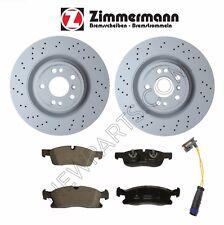 For Mercedes GLE350 ML350 W166 Set of Front Brake Discs Pads Sensors Zimmermann