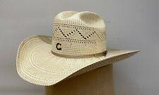 Charlie 1 Horse Women's Sniper Natural/ Tan Western Straw Hat CSSNPR-304296