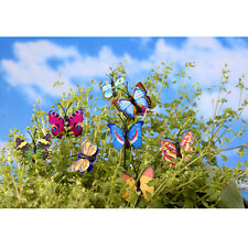 4X Butterfly Miniature Fairy Garden Ornament Plant Pot Craft Dollhouse Decor HC