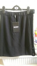 Misguided Skirt Black 14 bnwt detail work casual