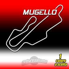 ADESIVO PVC CIRCUITO MUGELLO prespaziato auto moto sticker