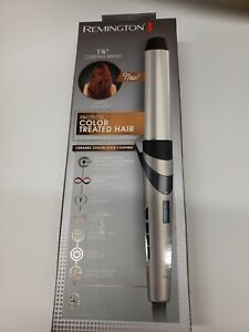 """Remington Pro 1¼"""" Ceramic Clipless Curling Wand with Color Care Heat Control"""