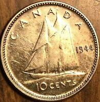1944 CANADA SILVER 10 CENTS