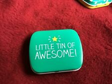 Happy Jackson hinged lidded Pill Tin Little Tin of Awesome!' , 6 x 5 x 1.5cms