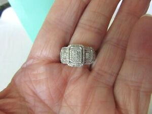 Affinity Diamond Wide Band Diamond Ring Solid Sterling 925 QVC