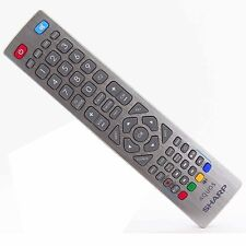 Genuine SHARP AQUOS Silver Telecomando per tv LCD LED'S CON TASTI 3D PVR DVD
