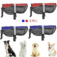 S/M/L Service Dog Vest Mesh Dog Puppy Harness Vest Mesh Blue Red WO