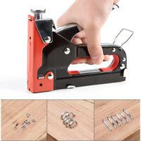 Heavy Duty Staple Gun Stapler Tacker + 900 nails 3in1 Powerful Hand Tool Wood US