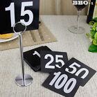 1-50 Plastic Table Number Card Black Digital Seating Cards Wedding Restaurant