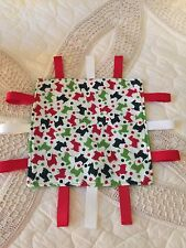 Taggie Scottie Dog Lovey Security Baby Blanket 8 x 8 Infant Baby - New