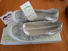 CHAUSSURES BALLERINES ARGENTE SILVER NOEUD FILLE VERBAUDET TAILLE 36  🌟 NEUF