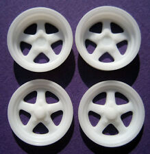 Resin 1/25 Weld Pro Star Wheels - Narrow Front & Wider Rear Set