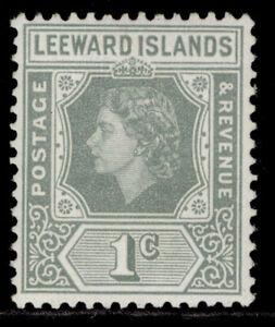 LEEWARD ISLANDS QEII SG127, 1c grey, VLH MINT.