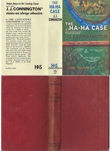 J. J. Connington  THE HA-HA CASE  2nd w/fdj 1936 Hodder murder mystery
