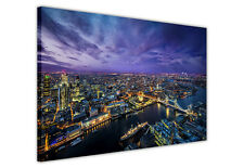 CANVAS PRINTS WALL ART LONDON CITY NIGHT VIEW PICTURES / PHOTOS HOME DECORATION