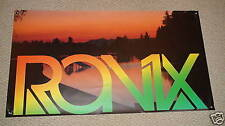 """RONIX BANNER 48"""" * 27"""" BRIGHT RASTA Wakeboard With Stickers Decal"""