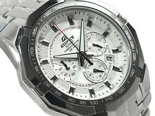 CASIO EDIFICE Chronograph 100M EF540D-7A EF-540D-7A White Free Ship @
