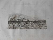 1836 ORIGINAL ANCIENT STEEL ENGRAVING VIEW OF ALGIERS ALGERIA AFRICA
