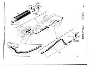 1955-1956 FORD 6 CYLINDER CONVERTIBLE EXHAUST SYSTEM, ALUMINIZED