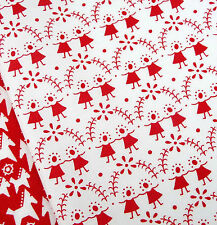 Bambini Fiore Rosso in Tessuto Bianco / Quilting Vintage Bambola Natale Scandi TOY