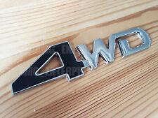 BLACK Silver Chrome 3D 4WD 100% Metal Emblem Badge Sticker 4x4 4 Wheel Drive SUV