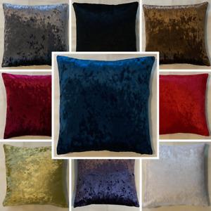High Quality Handmade Crushed Velvet Cushion Cover Home Decor Sofa Bed Zipper