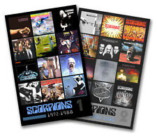 "SCORPIONS twin pack discography magnet set (two 4.75"" x 3.75"" magnets)"