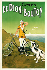 Cycles De Dion-Bouton Vintage Bicycle Poster Print by Fournery - Cycling