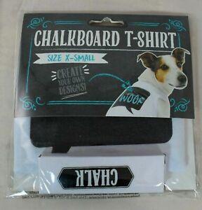 Thought Bubble Chalkboard Dog/Pet T-Shirt w/Chalk (White) Dog Size XS (Pet/Dog)