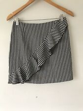 hm gingham Skirt With Ruffle Size 10 <V895