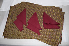 Handmade Place mats from Guatemala! Set of 6 with napkins - intricate weaving