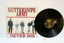 Guttersnipe Army NEVER DIE LP Link Skinhead Oi Very Rare