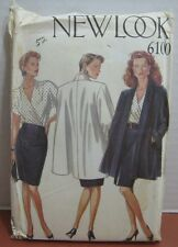 Jacket Top Skirt Sewing Pattern New Look Sizes 8,10,12,14,16,18  #6100 Uncut