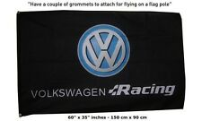 Big VW Volkswagen Racing VWR Flag Banner Sign 3x5 Feet Golf Turbocharged