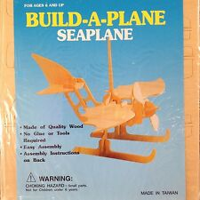 New Wooden 3D Puzzle Seaplane Build-A-Plane Requires No Glue Or Tools
